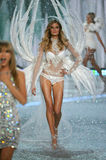 NEW YORK, NY - NOVEMBER 13: Model Constance Jablonski walks the runway at the 2013 Victoria's Secret Fashion Show Stock Images
