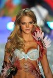NEW YORK, NY - NOVEMBER 13: Model Erin Heatherton walks in the 2013 Victoria's Secret Fashion Show Royalty Free Stock Photos