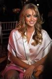 NEW YORK, NY - NOVEMBER 13: Model  Ieva Laguna poses at the 2013 Victoria's Secret Fashion Show Stock Image