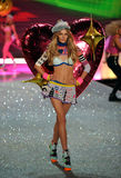 NEW YORK, NY - NOVEMBER 13: Model Ieva Laguna walks the runway at the 2013 Victoria's Secret Fashion Show Stock Images