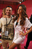 NEW YORK, NY - NOVEMBER 13: Model Izabel Goulart poses with friend at the 2013 Victoria's Secret Fashion Show Royalty Free Stock Photography