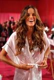 NEW YORK, NY - NOVEMBER 13: Model Izabel Goulart poses at the 2013 Victoria's Secret Fashion Show Stock Photo