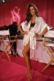 NEW YORK, NY - NOVEMBER 13: Model Izabel Goulart poses at the 2013 Victoria's Secret Fashion Show Stock Images