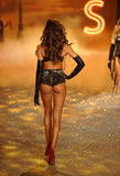 NEW YORK, NY - NOVEMBER 13: Model Izabel Goulart walks in the 2013 Victoria's Secret Fashion Show Stock Photos