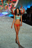 NEW YORK, NY - NOVEMBER 13: Model Jacquelyn Jablonski walks the runway at the 2013 Victoria's Secret Fashion Show Stock Images