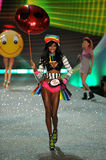 NEW YORK, NY - NOVEMBER 13: Model Jasmine Tookes walks the runway at the 2013 Victoria's Secret Fashion Show Stock Photo