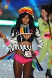 NEW YORK, NY - NOVEMBER 13: Model Jasmine Tookes walks the runway at the 2013 Victoria's Secret Fashion Show Royalty Free Stock Image