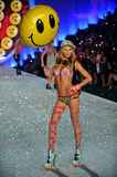 NEW YORK, NY - NOVEMBER 13: Model Jessica Hart walks the runway at the 2013 Victoria's Secret Fashion Show Stock Image