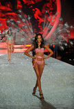 NEW YORK, NY - NOVEMBER 13: Model Joan Smalls walks the runway at the 2013 Victoria's Secret Fashion Show Stock Photos