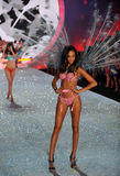NEW YORK, NY - NOVEMBER 13: Model Joan Smalls walks the runway at the 2013 Victoria's Secret Fashion Show Stock Images