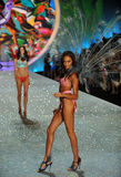 NEW YORK, NY - NOVEMBER 13: Model Joan Smalls walks the runway at the 2013 Victoria's Secret Fashion Show Royalty Free Stock Photography
