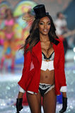 NEW YORK, NY - NOVEMBER 13: Model Jourdan Dunn walks the runway at the 2013 Victoria's Secret Fashion Show Stock Images