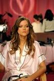 NEW YORK, NY - NOVEMBER 13:  Model Kasia Struss  prepare at the 2013 Victoria's Secret Fashion Show Stock Photos