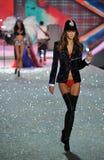 NEW YORK, NY - NOVEMBER 13: Model Kasia Struss walks in the 2013 Victoria's Secret Fashion Show Stock Image