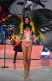 NEW YORK, NY - NOVEMBER 13: Model Lais Ribeiro walks in the 2013 Victoria's Secret Fashion Show Stock Images