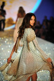 NEW YORK, NY - NOVEMBER 13: Model Lily Aldridge walks the runway at the 2013 Victoria's Secret Fashion Show Stock Photo