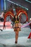 NEW YORK, NY - NOVEMBER 13: Model Lily Aldridge walks in the 2013 Victoria's Secret Fashion Show Stock Photography