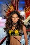 NEW YORK, NY - NOVEMBER 13: Model Lily Aldridge walks in the 2013 Victoria's Secret Fashion Show Royalty Free Stock Photos