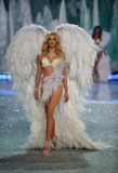 NEW YORK, NY - NOVEMBER 13: Model Lily Donaldson walks the runway at the 2013 Victoria's Secret Fashion Show Stock Image
