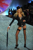 NEW YORK, NY - NOVEMBER 13: Model Lily Donaldson walks in the 2013 Victoria's Secret Fashion Show Stock Photography