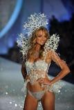 NEW YORK, NY - NOVEMBER 13: Model Lindsay Ellingson walks the runway at the 2013 Victoria's Secret Fashion Show Stock Photo