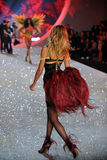 NEW YORK, NY - NOVEMBER 13: Model Magdalena Frackowiak walks the runway at the 2013 Victoria's Secret Fashion Show Royalty Free Stock Photo