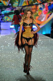 NEW YORK, NY - NOVEMBER 13: Model Magdalena Frackowiak walks the runway at the 2013 Victoria's Secret Fashion Show Royalty Free Stock Image