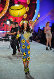 NEW YORK, NY - NOVEMBER 13: Model Malaika Firth walks the runway at the 2013 Victoria's Secret Fashion Show Stock Images