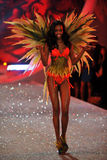NEW YORK, NY - NOVEMBER 13: Model Maria Borges walks the runway at the 2013 Victoria's Secret Fashion Show Stock Photos