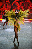 NEW YORK, NY - NOVEMBER 13: Model Maria Borges walks the runway at the 2013 Victoria's Secret Fashion Show Stock Images