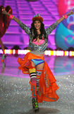 NEW YORK, NY - NOVEMBER 13: Model Ming Xi walks the runway at the 2013 Victoria's Secret Fashion Show Royalty Free Stock Photography