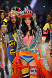 NEW YORK, NY - NOVEMBER 13: Models walk the runway finale at the 2013 Victoria's Secret Fashion Show Stock Photography