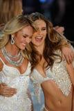 NEW YORK, NY - NOVEMBER 13: Models walk the runway finale at the 2013 Victoria's Secret Fashion Show Stock Photos