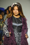 NEW YORK, NY - OCTOBER 18: Designer Cory Paglinco walks the runway during the Parsons preview at petite PARADE Kids Fashion Week Stock Image