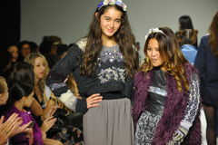 NEW YORK, NY - OCTOBER 18: Designer Cory Paglinco walks the runway during the Parsons preview at petite PARADE Kids Royalty Free Stock Images