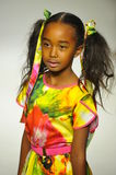 NEW YORK, NY - OCTOBER 18: A model walks the runway during the Alivia Simone preview at petite PARADE Kids Fashion Week Royalty Free Stock Photo
