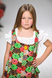 NEW YORK, NY - OCTOBER 19: A model walks the runway during the Aria Children's Clothing preview at petitePARADE Kids Fashion Week Stock Photo