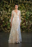 NEW YORK, NY - OCTOBER 10: A model walks the runway during the Claire Pettibone Fall 2015 Bridal Collection Show Stock Photos