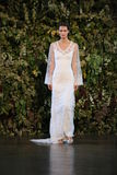 NEW YORK, NY - OCTOBER 10: A model walks the runway during the Claire Pettibone Fall 2015 Bridal Collection Show Stock Image