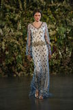 NEW YORK, NY - OCTOBER 10: A model walks the runway during the Claire Pettibone Fall 2015 Bridal Collection Show Royalty Free Stock Photos