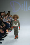 NEW YORK, NY - OCTOBER 19: A model walks the runway during the Dillonger Clothing preview Royalty Free Stock Photo