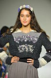 NEW YORK, NY - OCTOBER 18: A model walks the runway during the Parsons preview at petite PARADE Kids Fashion Week Royalty Free Stock Photography