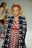 NEW YORK, NY - OCTOBER 18: A model walks the runway during the Parsons preview at petite PARADE Kids Fashion Week Royalty Free Stock Photo