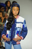 NEW YORK, NY - OCTOBER 18: A model walks the runway during the Parsons preview at petite PARADE Kids Fashion Week Royalty Free Stock Image