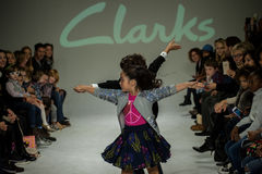 NEW YORK, NY - OCTOBER 19: Models perform on the runway during the Clarks preview Stock Photography