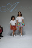 NEW YORK, NY - OCTOBER 19: Models walk the runway during the Aria Children's Clothing preview at petitePARADE Kids Fashion Week. At Bathhouse Studios on October Royalty Free Stock Photography