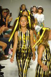 NEW YORK, NY - OCTOBER 18: Models walk the runway finale during the Alivia Simone preview at petite PARADE Kids Fashion Week. At Bathhouse Studios on October 18 Stock Photos