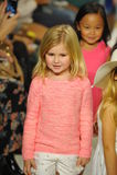 NEW YORK, NY - OCTOBER 18: Models walk the runway finale during the Chloe preview at petitePARADE Kids Fashion Week Stock Image