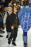 NEW YORK, NY - OCTOBER 18: Models walk the runway finale during the Parsons preview at petite PARADE Kids Fashion Week Stock Image