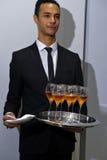NEW YORK NY - OKTOBER 13: Champagne tjänades som på Carolina Herrera Bridal Presentation Royaltyfria Foton